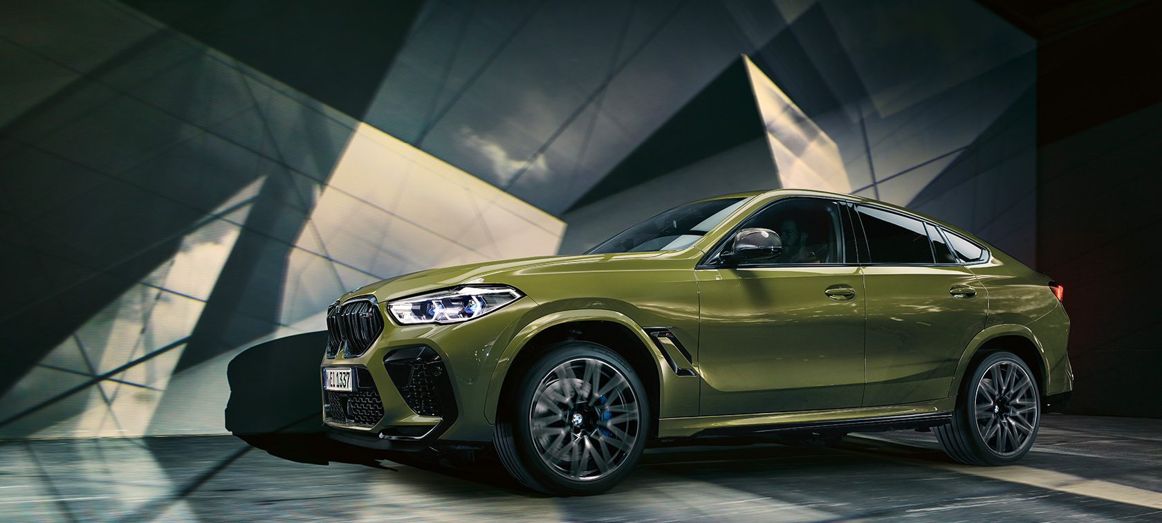 The BMW X6 M Automobiles BMW Individual Special Paint Urban Green F96 2020