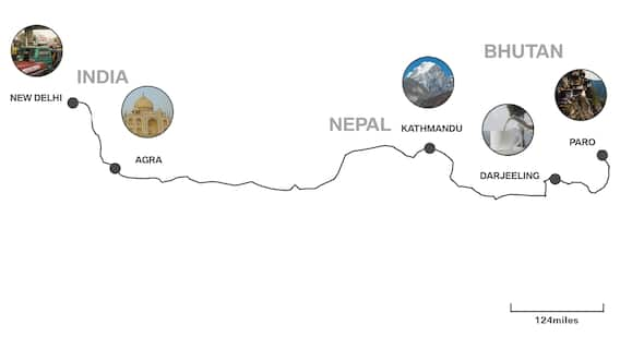 The leg of the journey from India to Bhutan